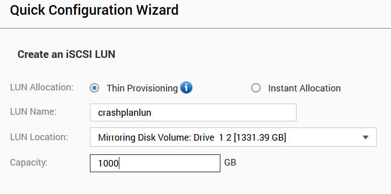 Backup to your QNAP NAS using CrashPlan